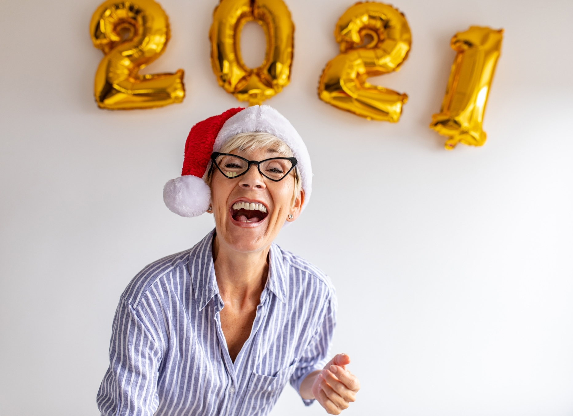 Woman Happy for 2021