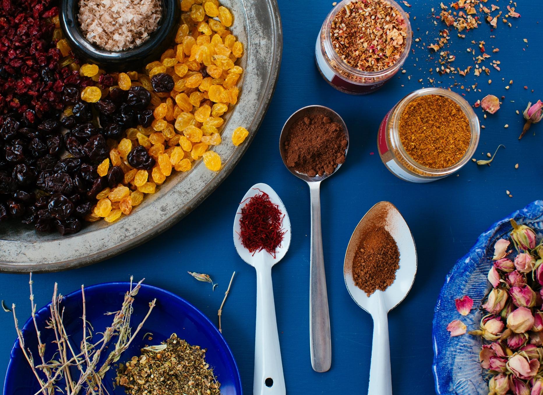 Ingredients Blue Table