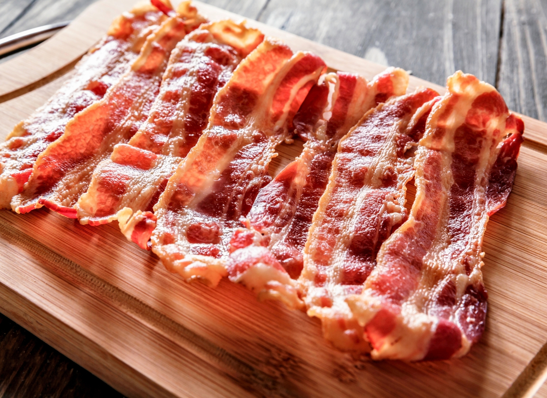 Bacon on a Cutting Board