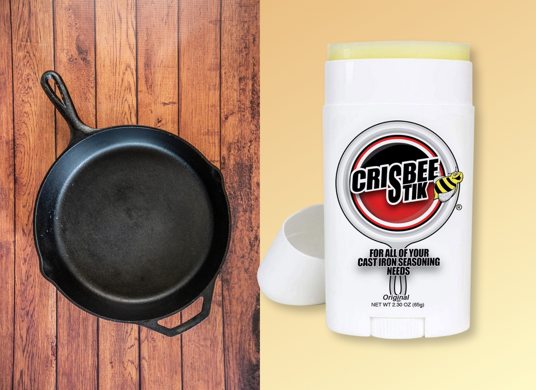 Crisbee Stick for Cast Iron Skillets