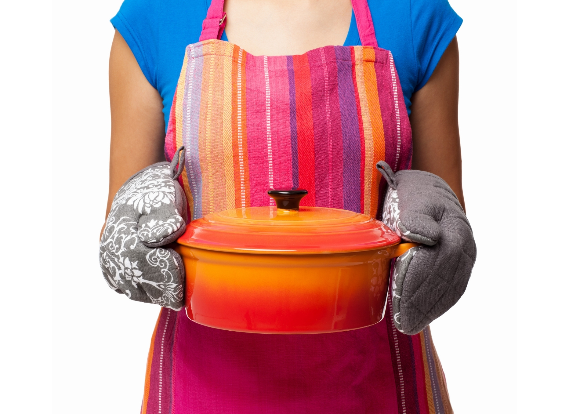 Woman with Cooking Pot