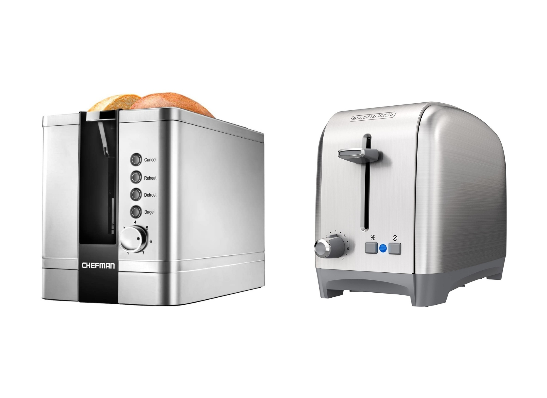 Chefman Toaster and Black and Decker Toaster