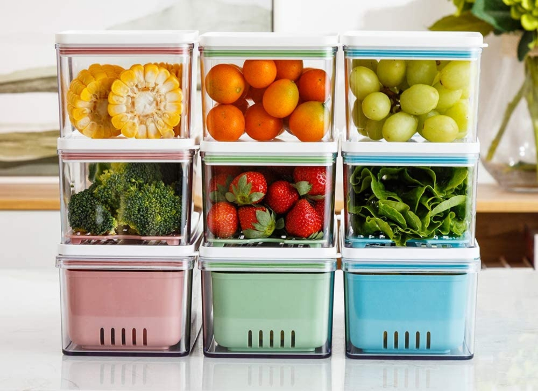 Stackable Produce Containers