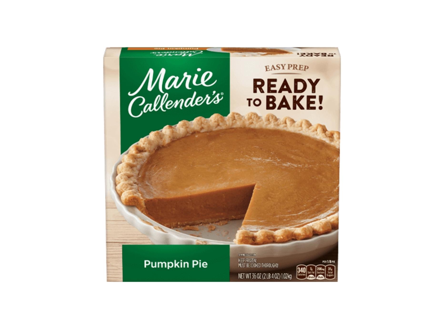 Pumpkin Pie Marie Callendars