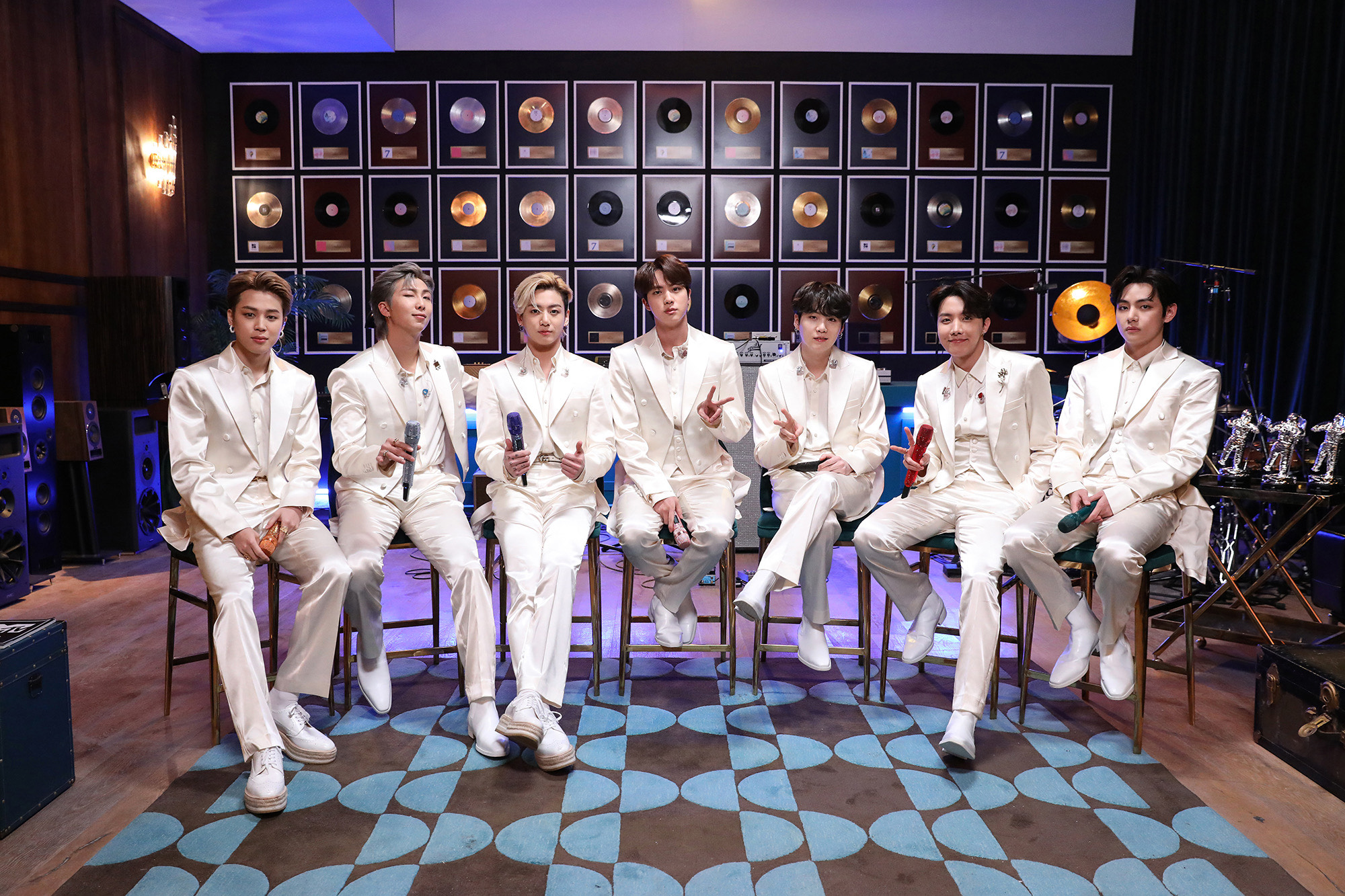 BTS performs on MTV Unplugged.