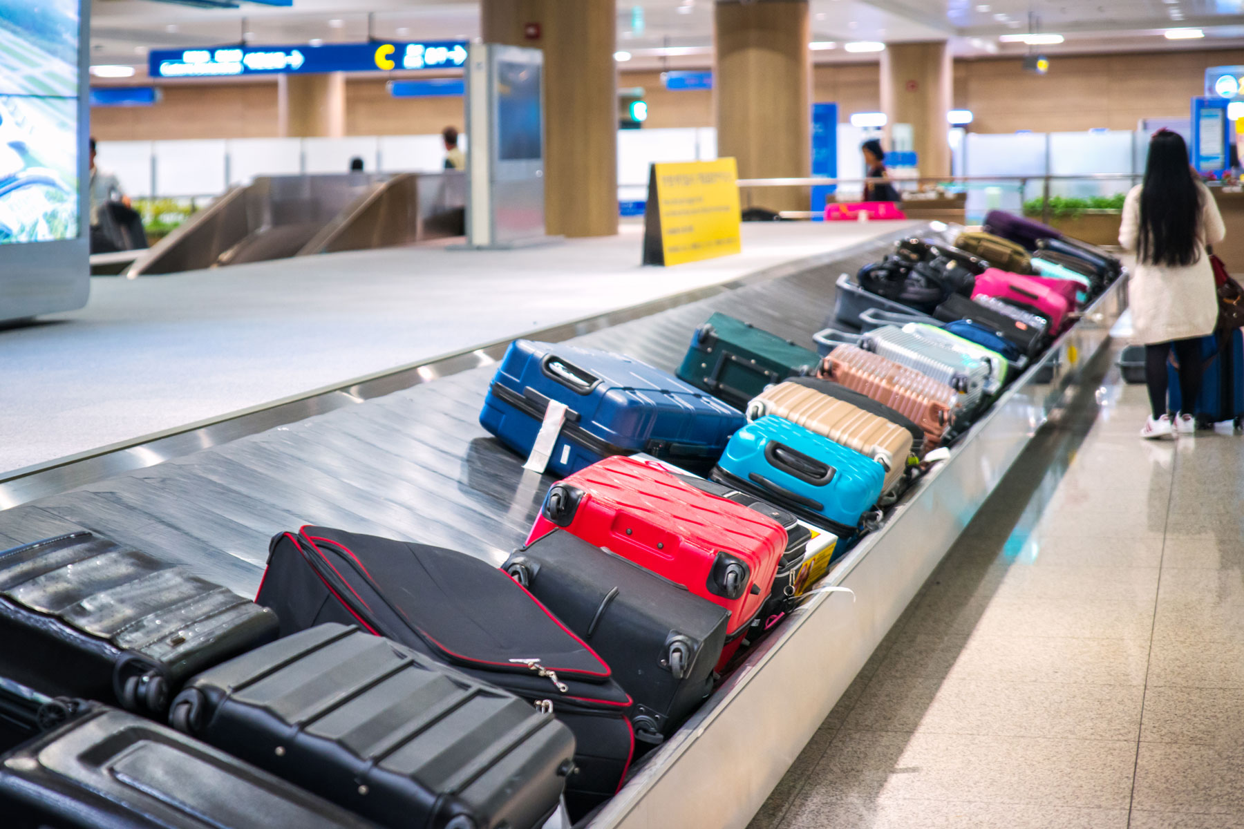 Baggage waiting to be claimed at airport