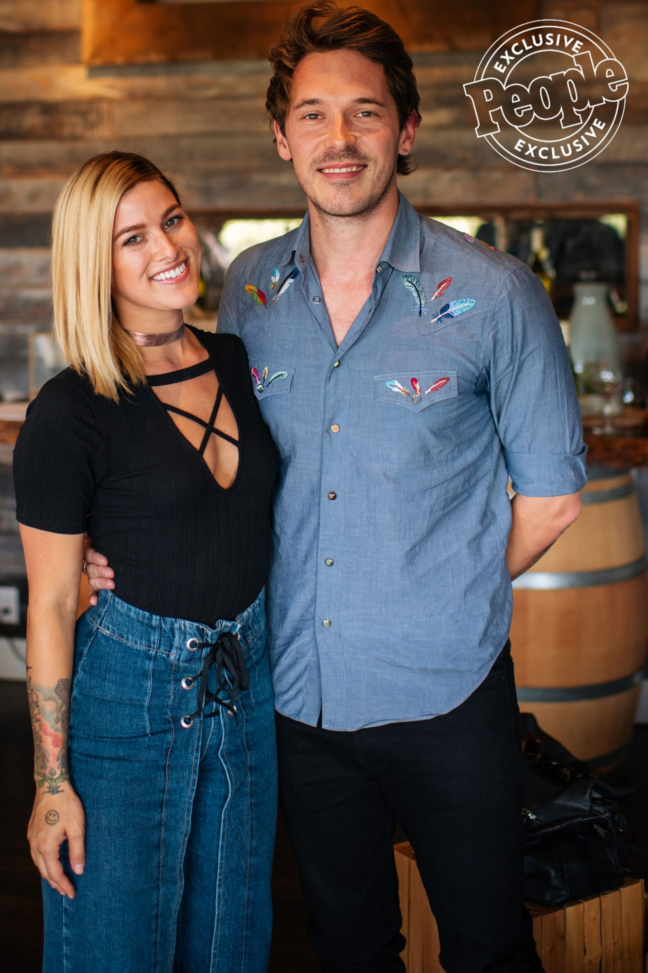 Cassadee-Pope-and-Sam-Palladino-pose-for-a-picture-at-LE-Estates-during-LITV