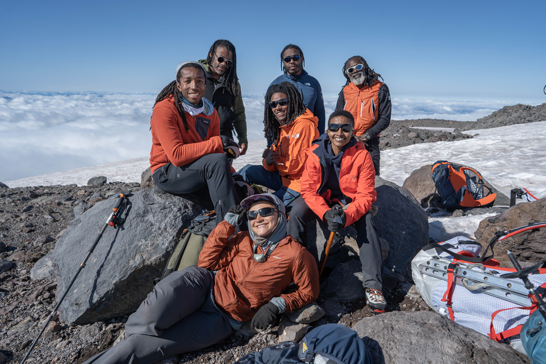 Full Circle Everest Expedition Team, first all Black climb.
