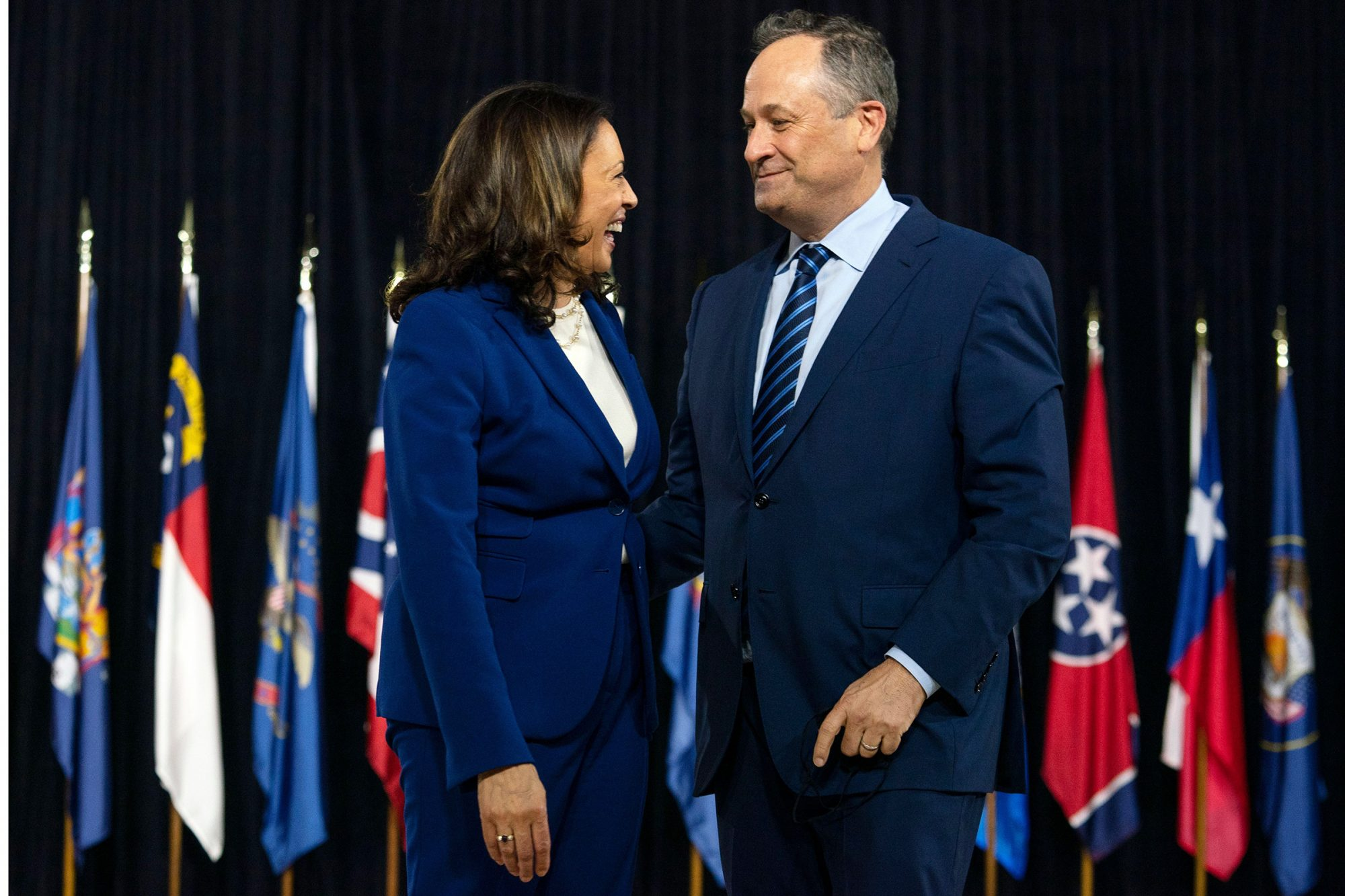 From left: Sen. Kamala Harris and her husband, Doug Emhoff