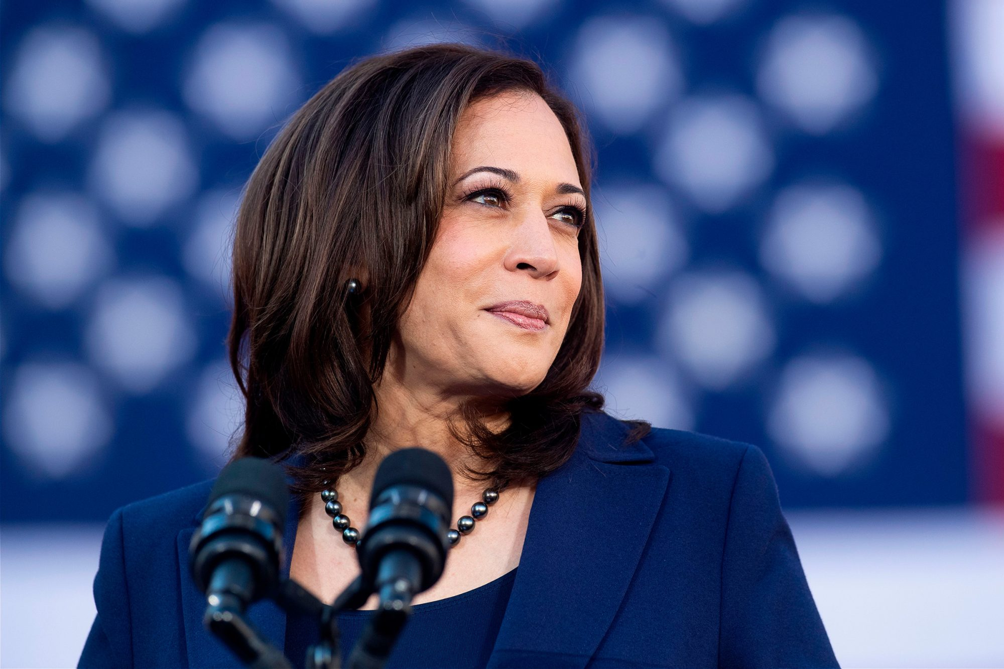 California Senator Kamala Harris speaks during a rally launching her presidential campaign on January 27, 2019
