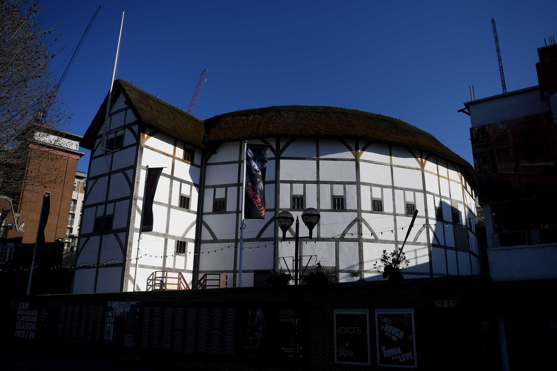 A general view of the Globe Theatre on March 22, 2020 in London, England.