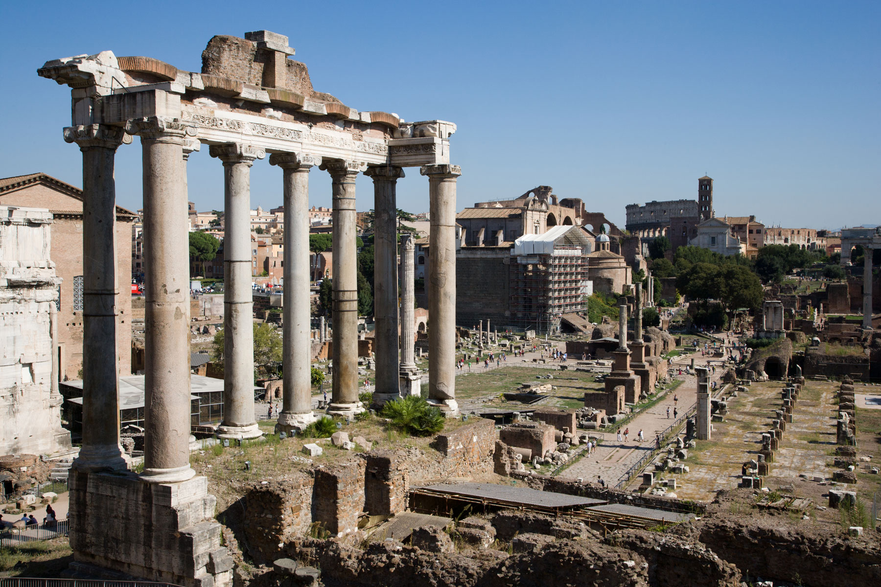 Temple of Saturn at Roman Forum