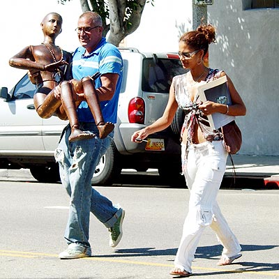WHAT'S UP WITH HALLE'S 'MAN'?