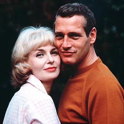 """""""A Hollywood Star Couple At Home"""": Paul Newman, one of Hollywood's biggest stars, with his actress, wife, Joanne Woodward (whom he married in 1958). They are pictured here in 1965."""