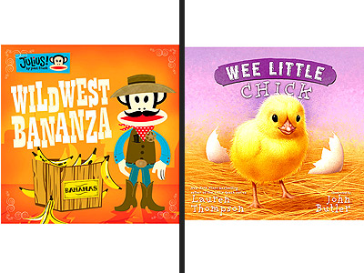 BOOKS: WILD WEST BANANZA and WEE LITTLE CHICK
