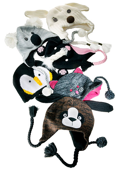 BEST FOR SIX-YEAR-OLDS AND UP: ANIMAL KNIT HATS