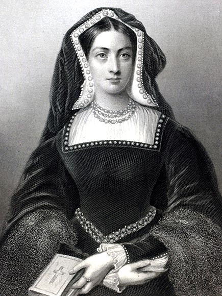 Catherine of Aragon, (1485-1536) the 1st Queen of King Henry VII, Spainish born, she married Henry VIII in 1509 but having failed to provide a male son she fell from favour and Henry engineered Anne Boleyn to replace her