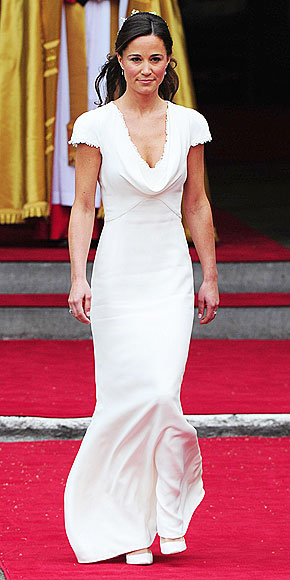 PIPPA'S GOWN: WHITE HOT