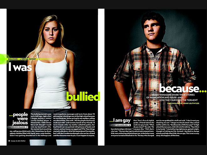 2010: I WAS BULLIED BECAUSE...