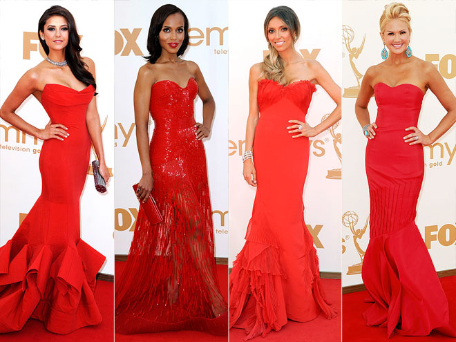 RED STRAPLESS MERMAID GOWNS