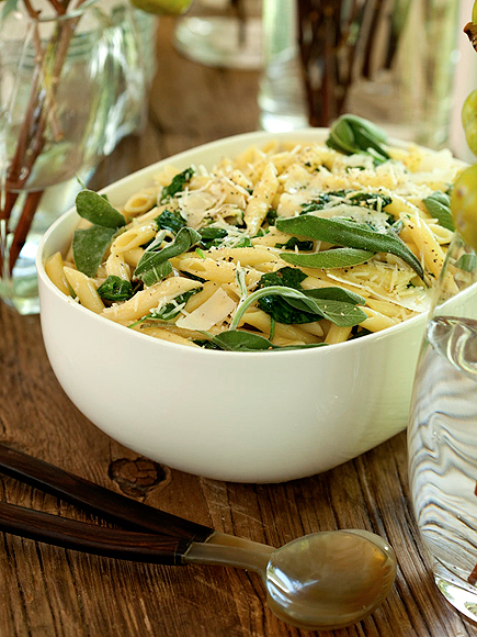 Jo Gartin's Butter Sage Penne with Spinach
