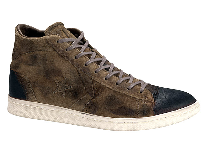 CONVERSE LEATHER SNEAKERS, $170