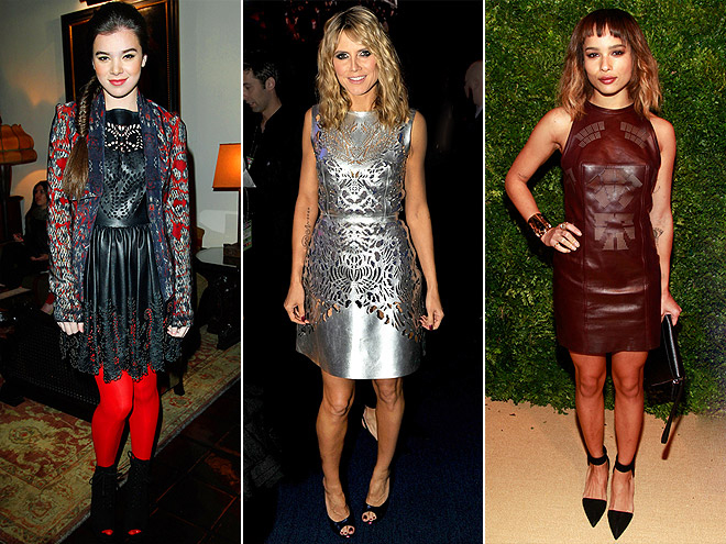 PERFORATED LEATHER DRESSES