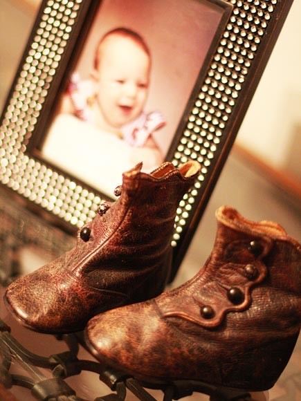 VINTAGE BOOTS & BABY PHOTOS