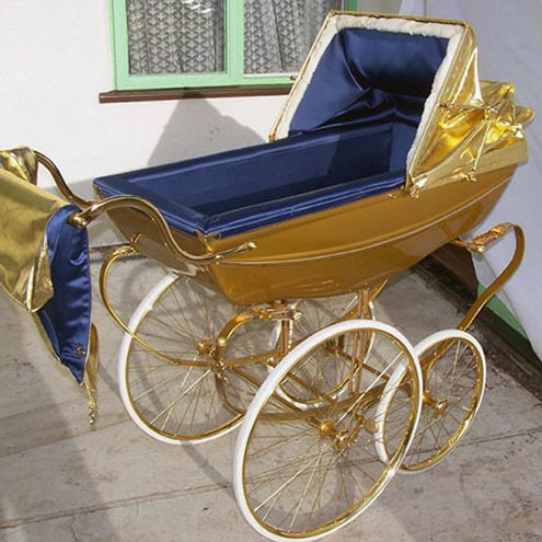 GOLD-PLATED STROLLER: $7,912