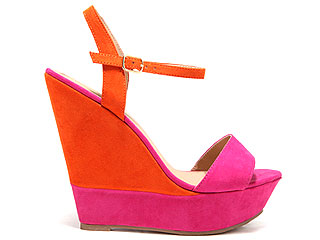 Forever 21 colorblock wedges