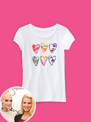Jessica Simpson Ashlee Simpson Jessica Simpson Girls Collection Charity T-Shirt Baby Buggy