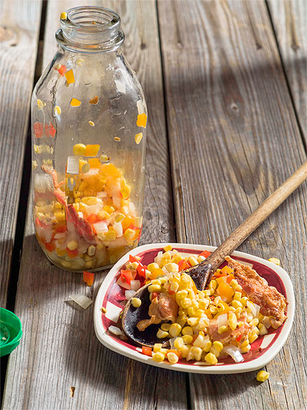 PICKLED CORN-BACON RELISH