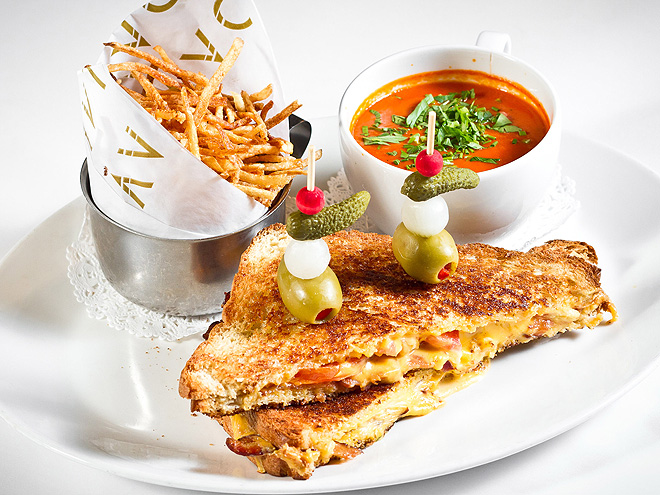 LAVO Las Vegas Grilled Cheese Sandwich