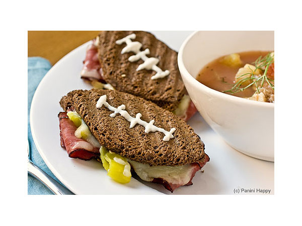 Super Bowl Football Themed Food Panini