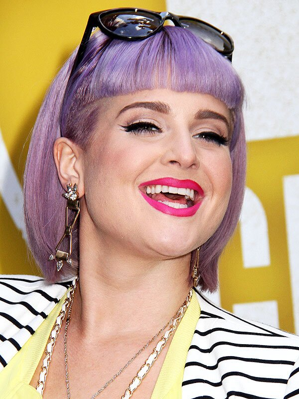 Kelly Osbourne purple hair