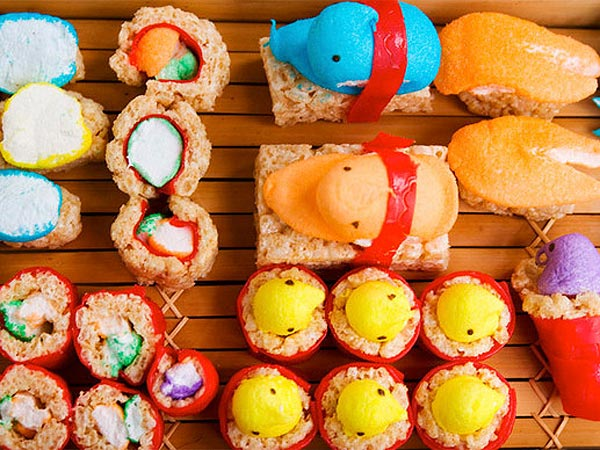 Easter Peeps Sushi Recipes