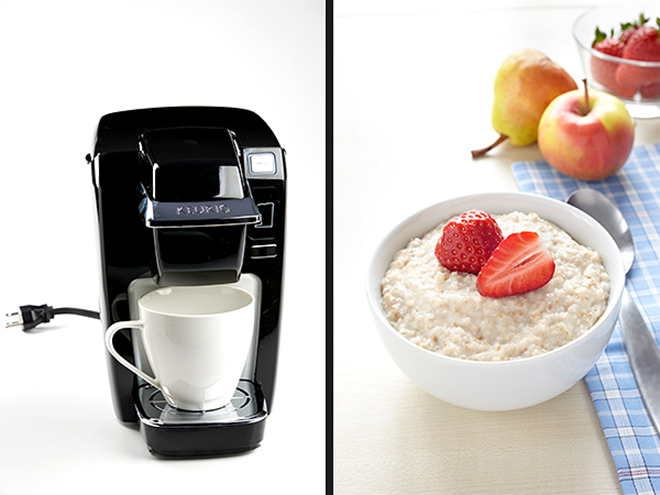 USE YOUR COFFEE MACHINE FOR OATMEAL