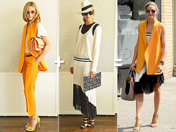 Olivia Palermo style mixing
