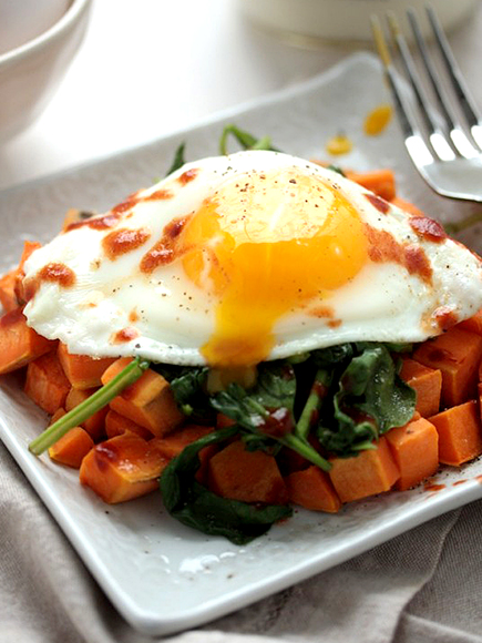 Sweet Potato Spinach Breakfast Hash