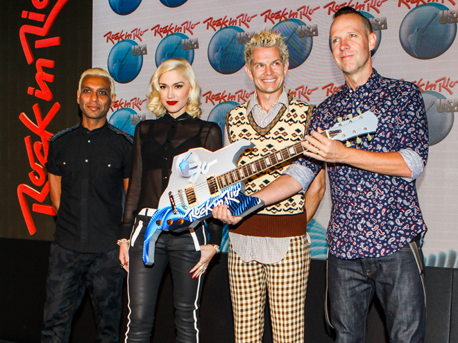 **NO BRAZIL** New York, NY - No Doubt is presented as one of the main attractions of Rock In Rio Festival to be held in Las Vegas, in May 2015.