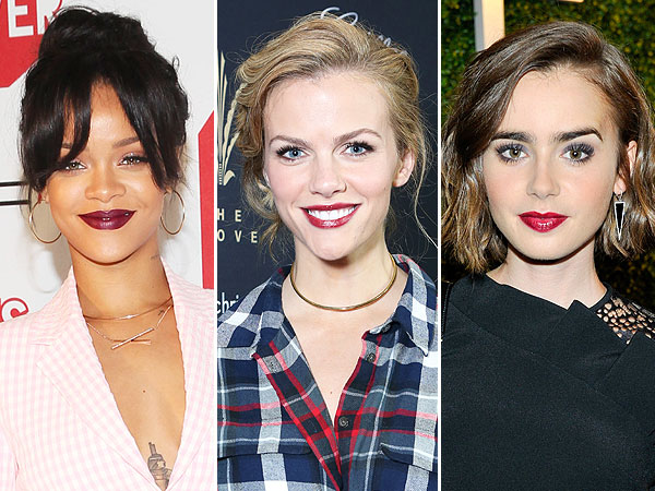 Celebs in Cranberry Lipstick