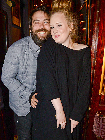 Simon Konecki and Adele Lady Gaga in concert at Annabel's, London, Britain - 06 Dec 2013