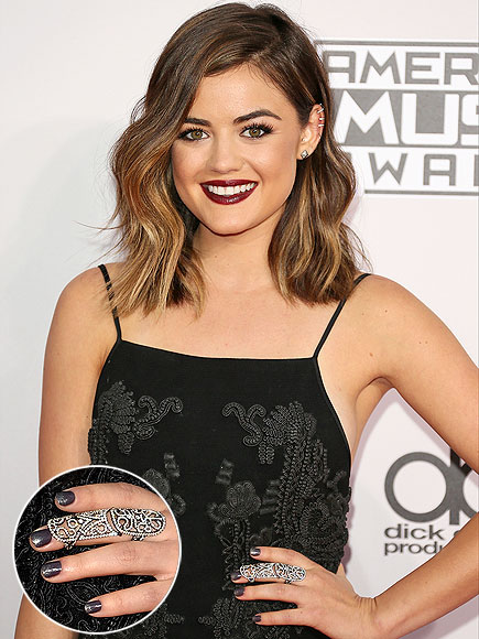 LUCY HALE'S GLIMMERING GRAY