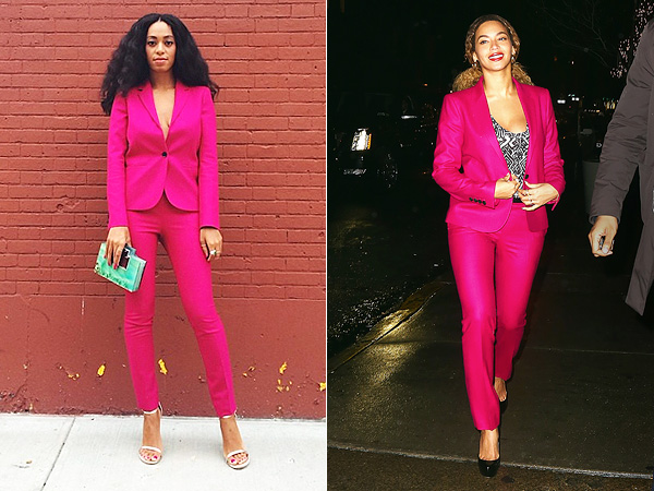 Beyonce Solange clothes sharing