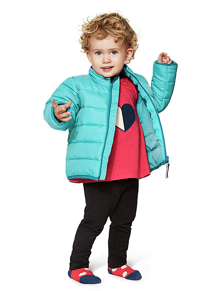 PUFFER COAT THAT WON'T WEIGH THEM DOWN
