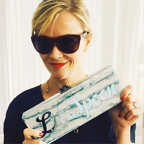 EDIE PARKER DESIGNED A CUSTOM CLUTCH FOR HER