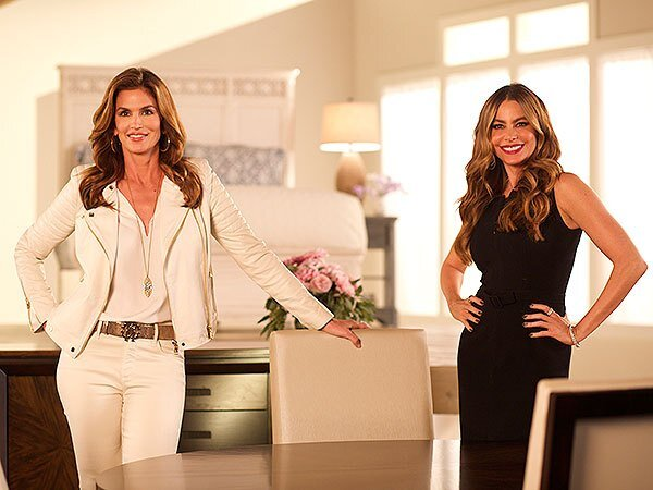 Sofia Vergara Cindy Crawford Behind The Scenes Rooms To Go Commercial People Com
