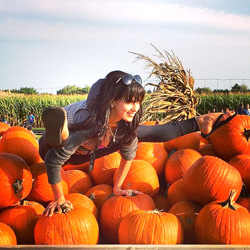 AT THE PUMPKIN PATCH
