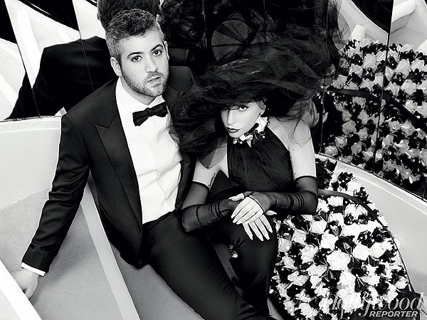 Karl Lagerfeld for The Hollywood Reporter photogra