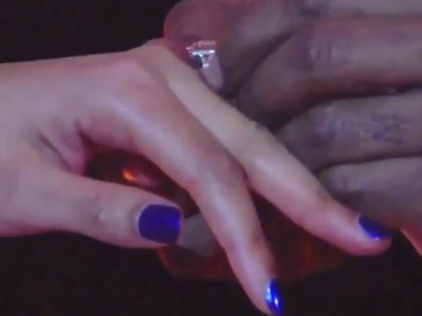 Beyonce's blue wedding manicure
